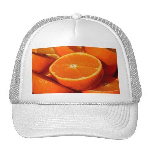 Oranges. Mesh Hats
