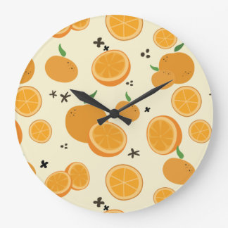 Oranges Large Clock