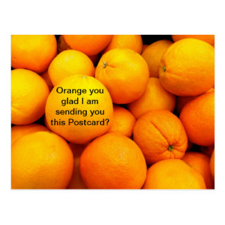 Oranges on a Postcard, Funny Fruit Food Card