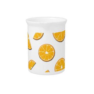 Oranges pattern pitcher