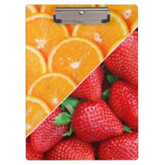 Oranges & Strawberries Collage Clipboard