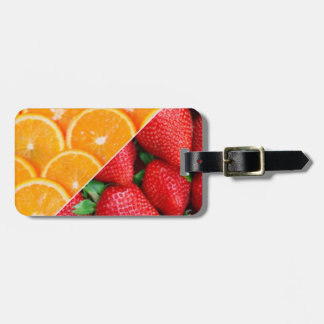 Oranges & Strawberries Collage Luggage Tag