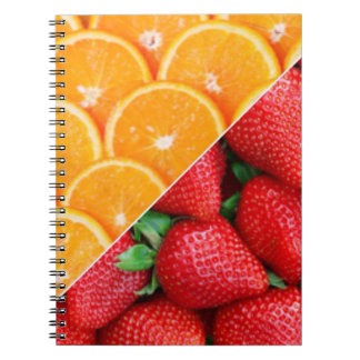 Oranges & Strawberries Collage Notebook