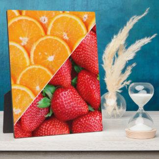 Oranges & Strawberries Collage Plaque