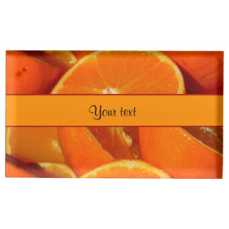 Oranges Table Card Holders