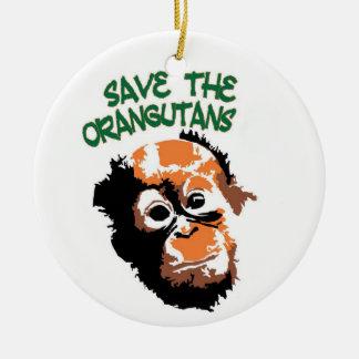 Orangutan Art Ceramic Ornament