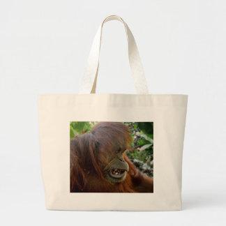 """Orangutan """"Bad Hair Day"""" Tote Bags"""