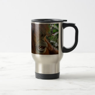 "Orangutan ""Bad Hair Day"" Travel Mug"
