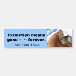 Orangutan Bumper Sticker
