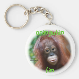 Orangutan Fan Key Ring