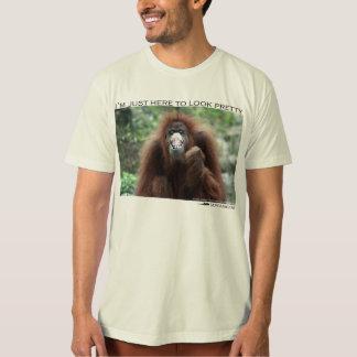 "Orangutan: ""I'm just here to look pretty"" T-Shirt"