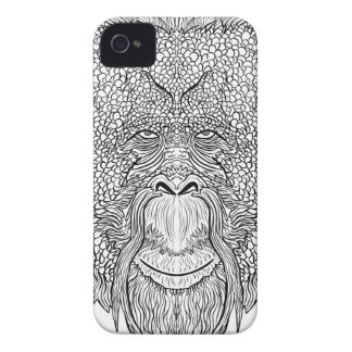 Orangutan Monkey Tee - Tattoo Art Style Coloring Case-Mate iPhone 4 Case