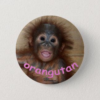 Orangutan Pink Lips 6 Cm Round Badge