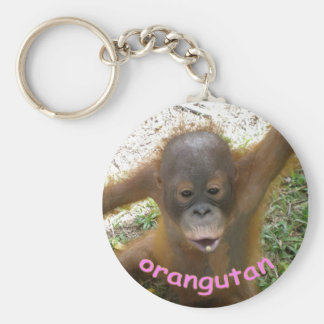 Orangutan Rainforest Snack Key Ring