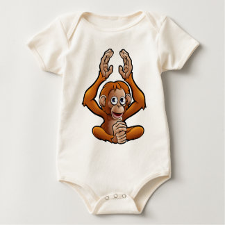Orangutan Safari Animals Cartoon Character Baby Bodysuit