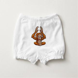 Orangutan Safari Animals Cartoon Character Nappy Cover