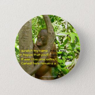 Orangutan Tribute 6 Cm Round Badge