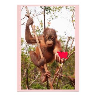 Orangutan Valentine Cards Custom Invites