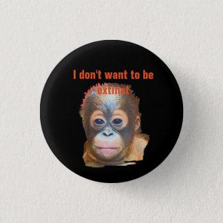 Orangutan Wildlife 3 Cm Round Badge