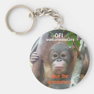 Orangutan Wildlife Supporter Keychain