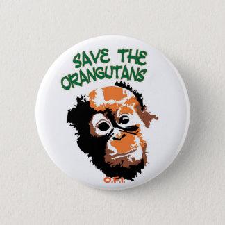 Orangutans 6 Cm Round Badge