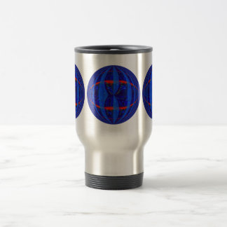 Orb Dark Blue Round travel mug