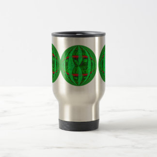Orb Green Round travel mug