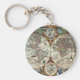 Orbis Terrarum 1594 - Famous World Map Key Ring