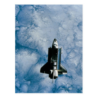 Orbiting Space Shuttle Postcard