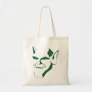 orc creature cranky face customizable budget tote bag
