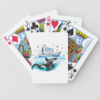 Orca And The Boat Bicycle Playing Cards
