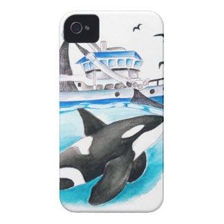 Orca And The Boat Case-Mate iPhone 4 Case