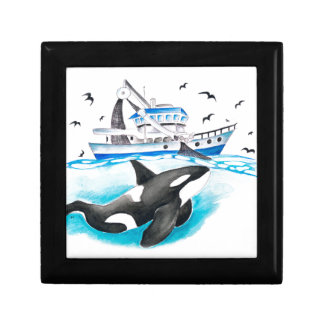 Orca And The Boat Gift Box