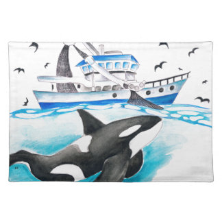 Orca And The Boat Placemats
