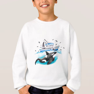 Orca And The Boat Sweatshirt