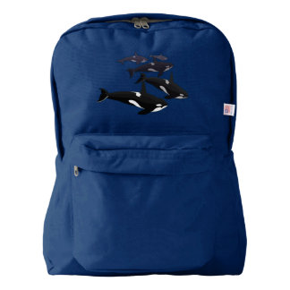 Orca Backpack Killer Whale School Bags Customize