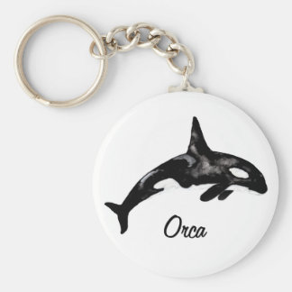 Orca Basic Round Button Key Ring