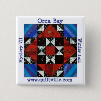 Orca Bay Mystery button, Quiltville 15 Cm Square Badge