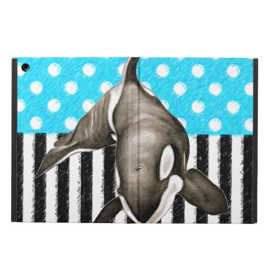 Orca Blue Polka Dot Case For iPad Air