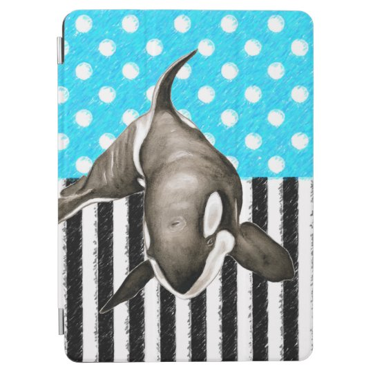 Orca Blue Polka Dot iPad Air Cover