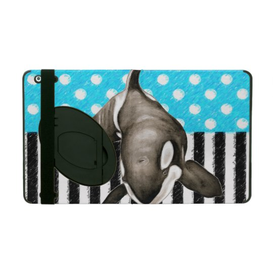 Orca Blue Polka Dot iPad Cover