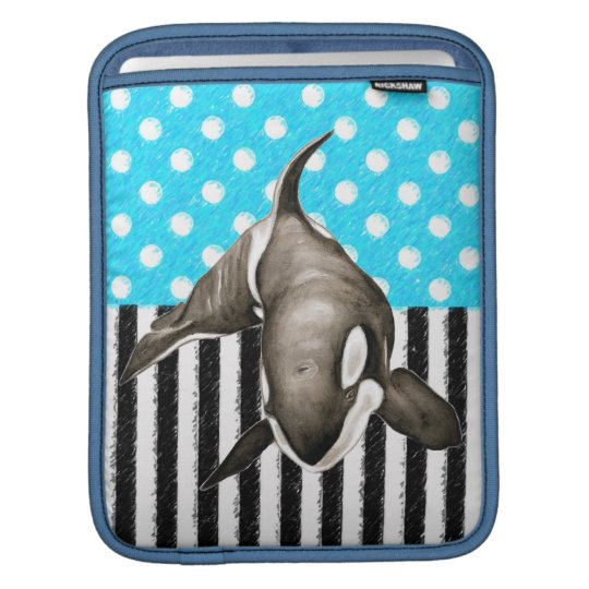 Orca Blue Polka Dot iPad Sleeve