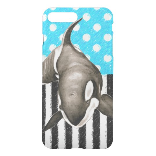 Orca Blue Polka Dot iPhone 8 Plus/7 Plus Case