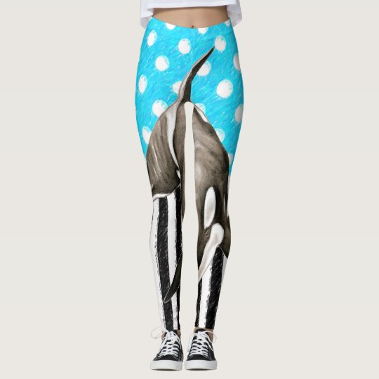 Orca Blue Polka Dot Leggings
