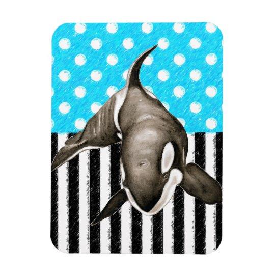 Orca Blue Polka Dot Magnet