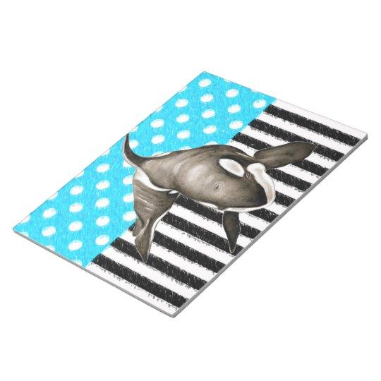 Orca Blue Polka Dot Notepad