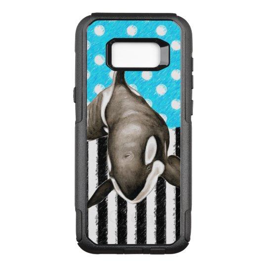 Orca Blue Polka Dot OtterBox Commuter Samsung Galaxy S8+ Case