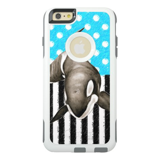 Orca Blue Polka Dot OtterBox iPhone 6/6s Plus Case