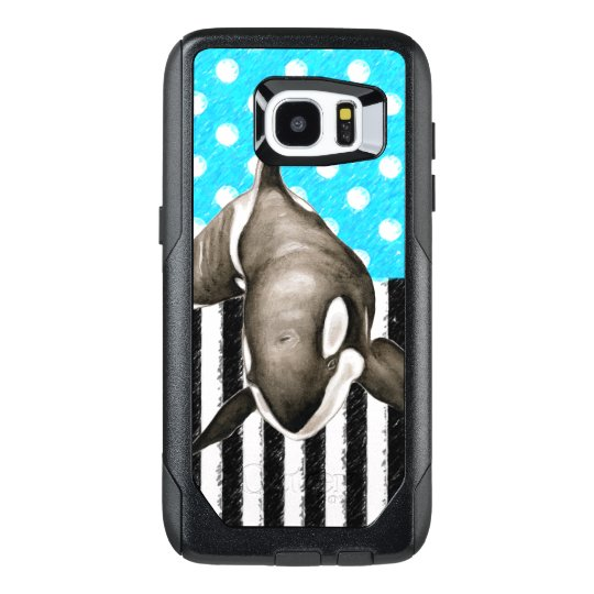 Orca Blue Polka Dot OtterBox Samsung Galaxy S7 Edge Case