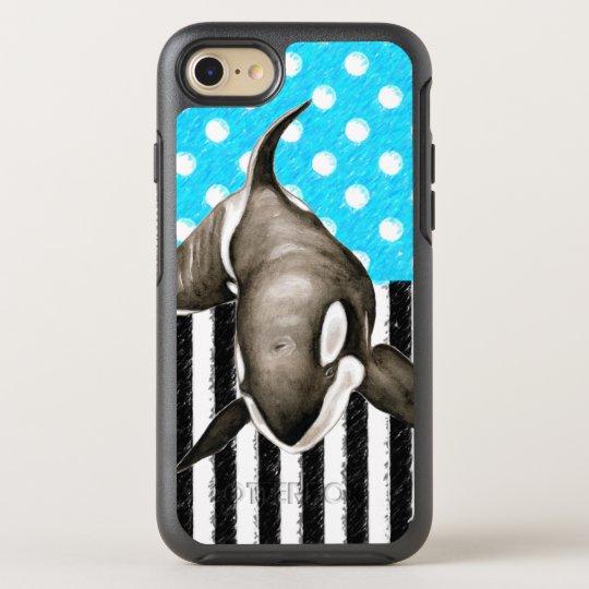 Orca Blue Polka Dot OtterBox Symmetry iPhone 8/7 Case